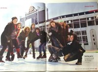 OTL members got their picture in the alumni magazine while skating during a community event
