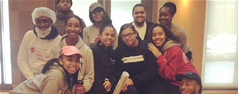 BSA E-board and Adviseo volunteering for 2018 MLK Day of Service!